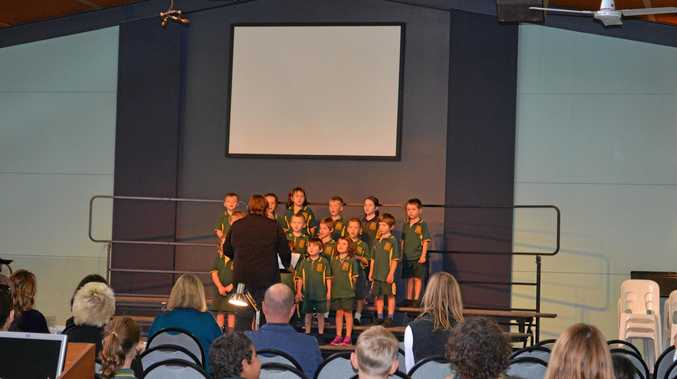 The Severnlea students  at the 2016 Border District Eisteddfod .