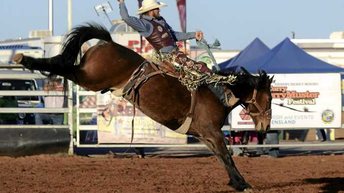 LOCAL LEGEND: Michael Maher won the saddle bronc title at the Mt Isa Rotary Rodeo in both 2015 and 2016.