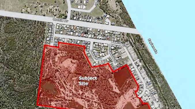 Site development plans for the proposed lot conversion at Burrum Heads, near Beach Dr.