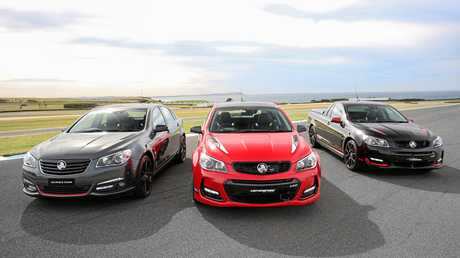 2017 Limited Edition Holden Commodores - (from left) Director, Motorsport Edition and Magnum.