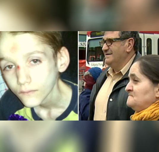 Alexandru Radita, 15, (left) died of complications from untreated diabetes and starvation at the hands of his parents Emil and Rodica Radita (right)