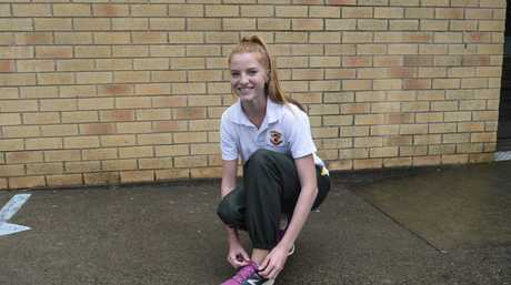 JUMPING FOR GOLD: Erica Tillman will be heading to Sydney later this month to compete in triple jump at the Australian Junior Championships.