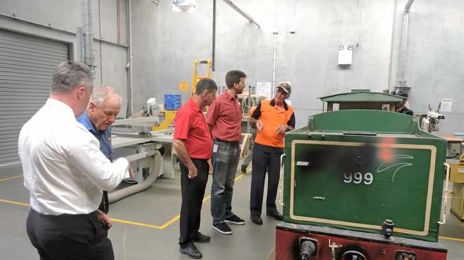Maryborough City Whistlestop committee has donated a C17 Locomotive static display to Maryborough State High School for students to refurbish.