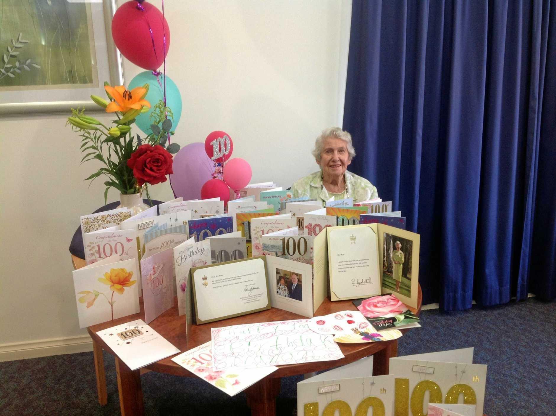 Win Plant celebrates her 100th birthday.