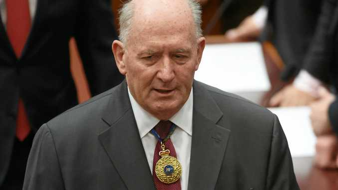 Governor General Sir Peter Cosgrove in the Senate marking the start of the 45th Parliament at Parliament House in Canberra.