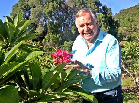 Graham Ross, the popular horticulture expert on Better Homes & Gardens, enjoyed filming a segment on frangipani breeding at Pimlico near Ballina.