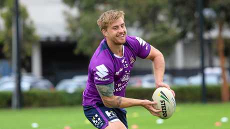 HAPPY DAYS: Cameron Munster trains with Melbourne Storm.
