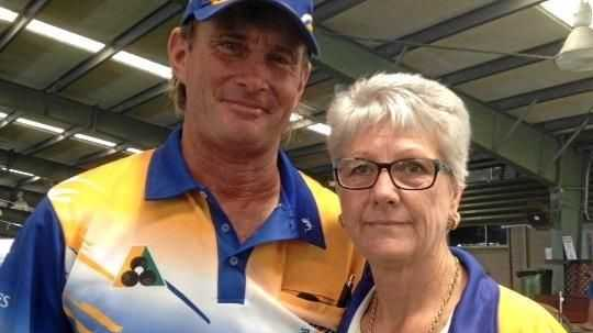Peter Blackburn and Dealia Walsh (pictured) will play Robyn Devereaux and Noel Wilson in the Mackay Mixed Pairs final on Friday.