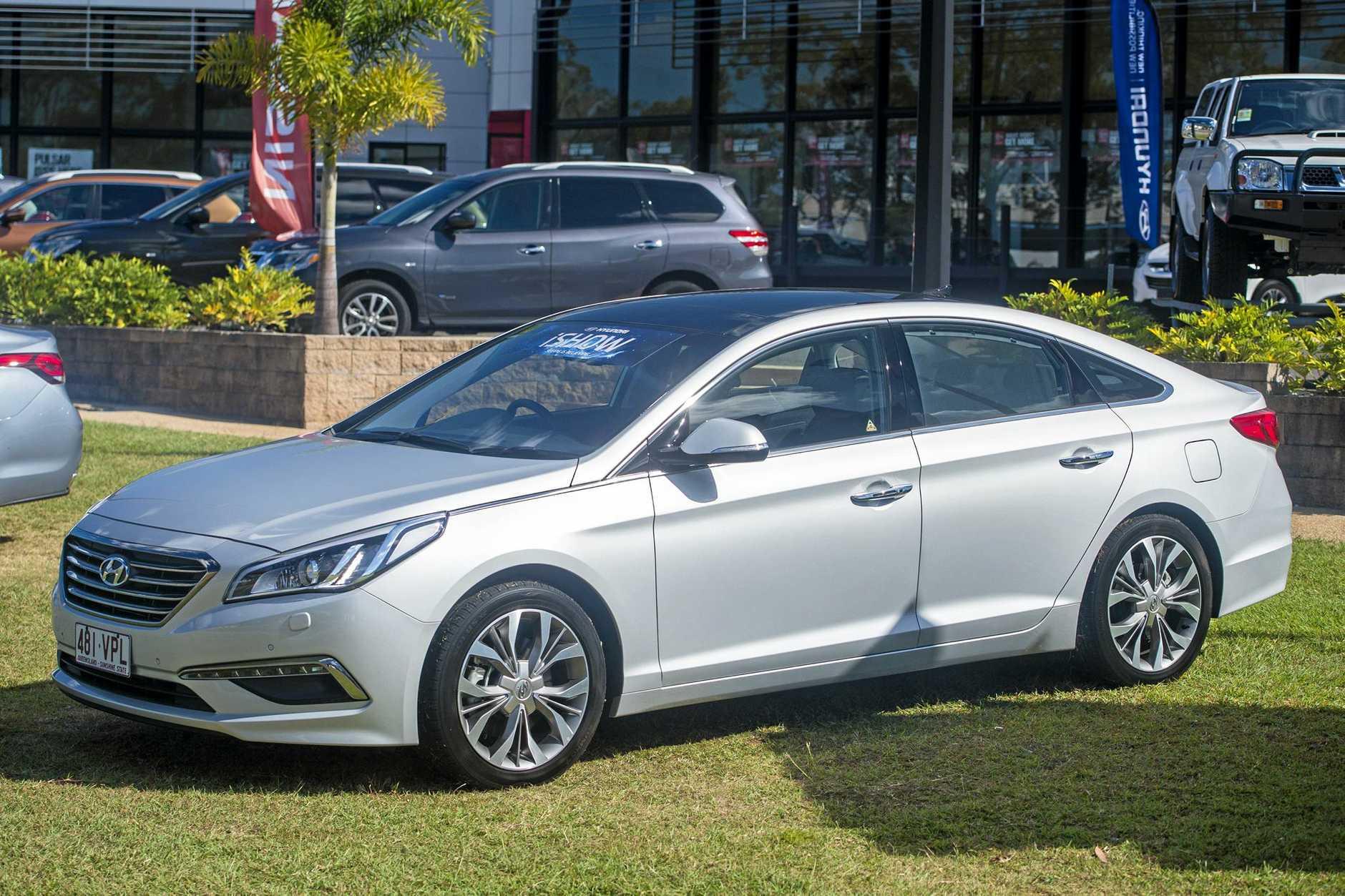 Hyundai Sonata. - Gladstone Hyundai's top range cars on show.  Photo: Paul Braven / The Observer