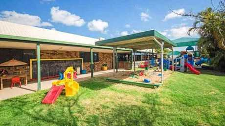 The Allenstown Childcare Centre features an extensive play area including sandpits and fixed play equipment.