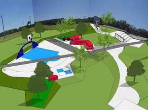 Tweed Shire Council's artist impression of the Les Burger Field youth recreation space for the concept plans.