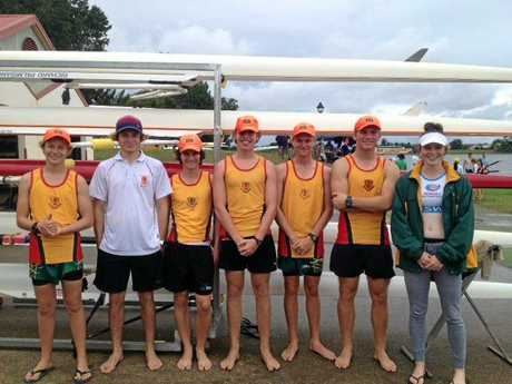 South Grafton High put their all in on the Clarence River at the NSW CHS Rowing Championships.