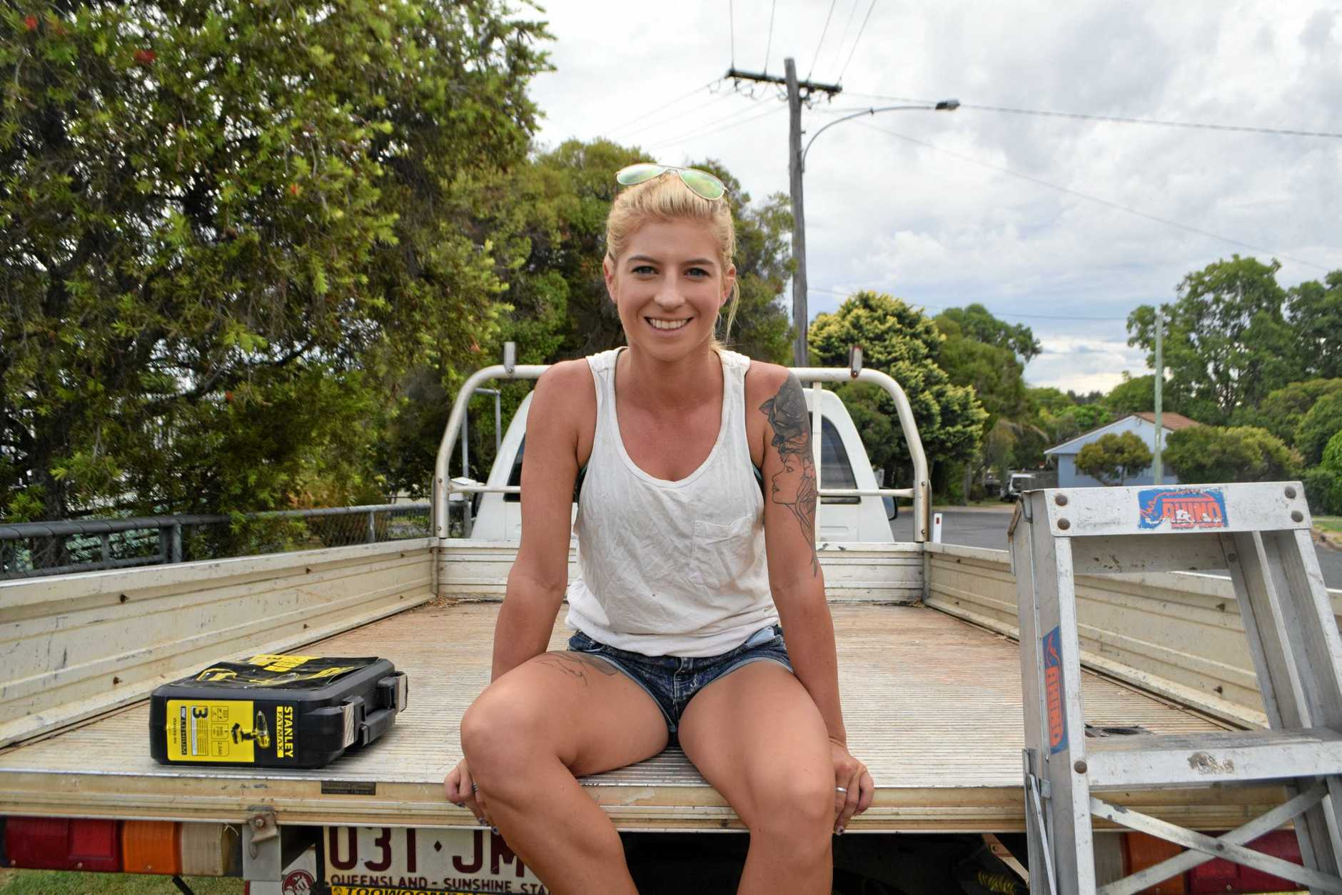 WOMAN'S WORLD: Apprentice carpenter Sarah McKendry quickly learnt to deal with sexism and doubters.
