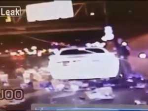 Beer truck spills on cop