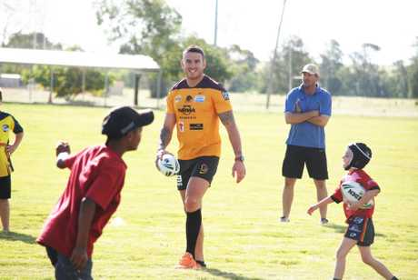 Darius Boyd pictured at a regional clinic in March.