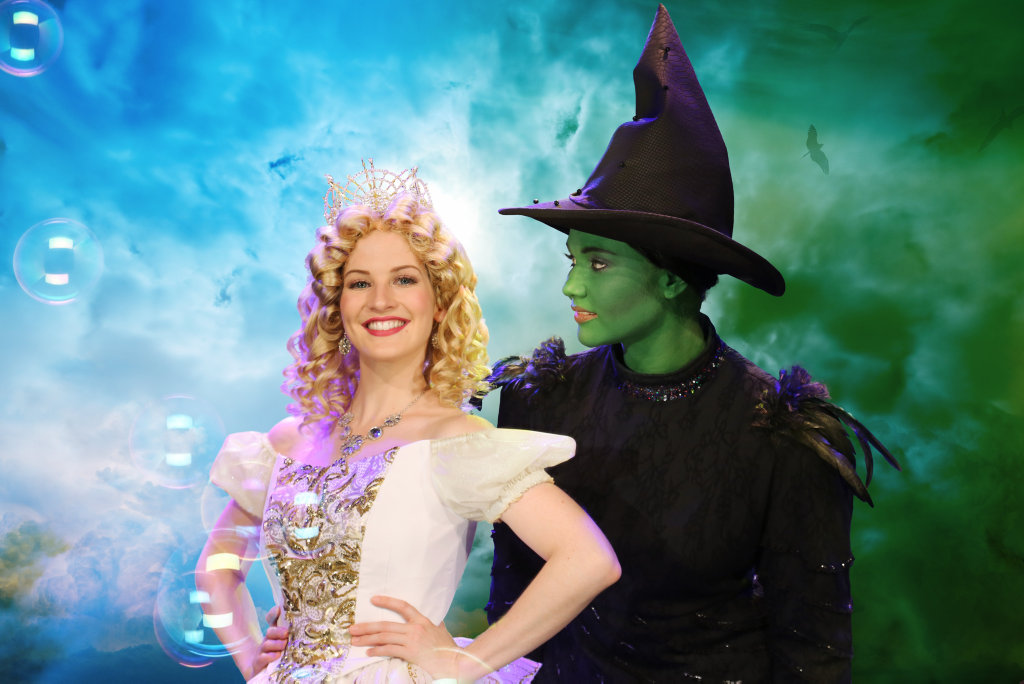 Wicked leads Shannon Gralow (Glinda) and Louise Fraser (Elphaba).