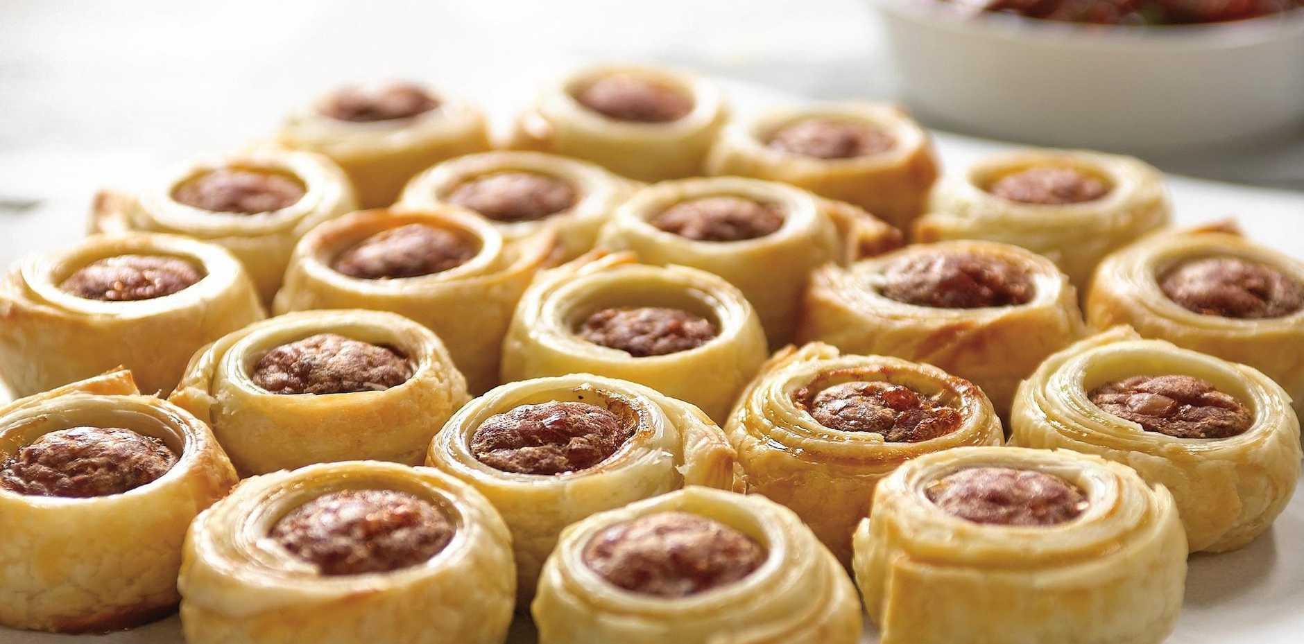 Mini sausage rolls.