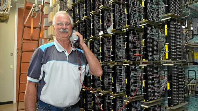 Alan Walters, pictured here inside the Kingaroy exchange, has been with Telstra for 50 years.