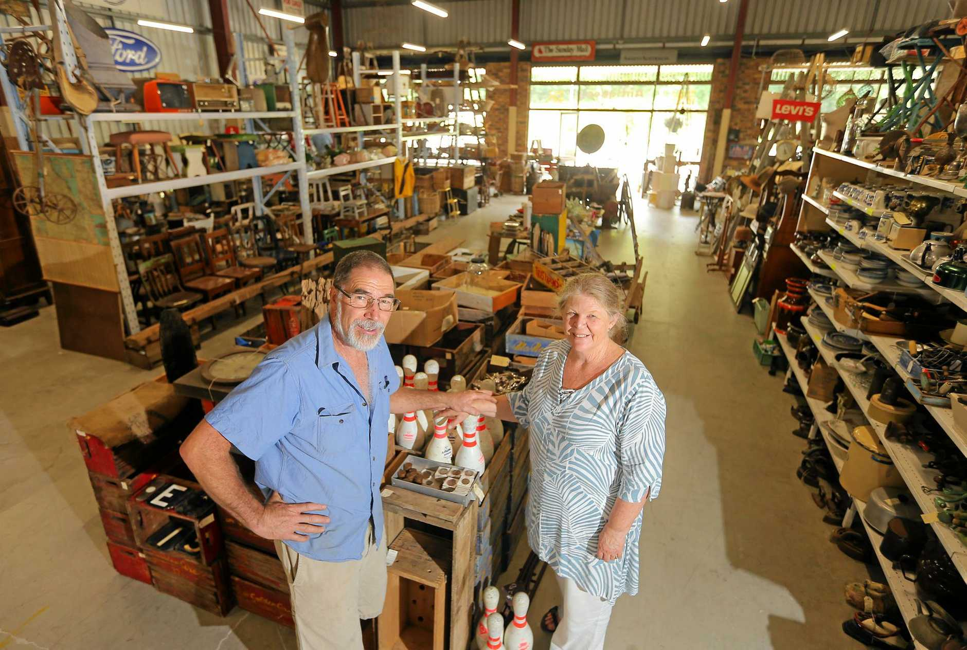 FINDERS KEEPERS: Ross and Eva Heath from Heaths Collectables at Burringbar.
