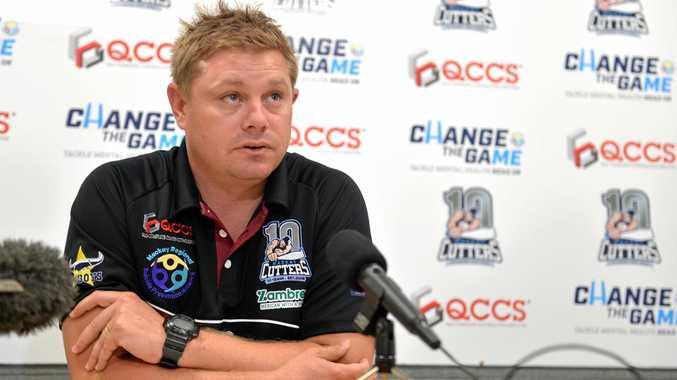 QCCS Mackay Cutters coach Steve Sheppard at the first team announcement.