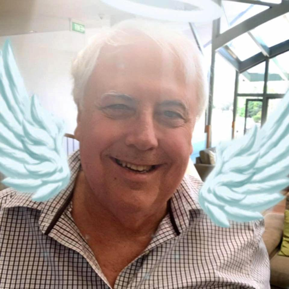 REINVENTED: Clive Palmer is surging in popularity on social media after a string of bizarre posts. He's also found the photo filters, as evidenced by this little number.