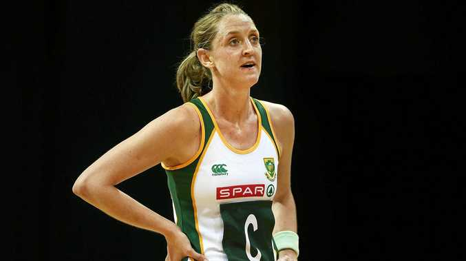 Erin Burger playing for South Africa.