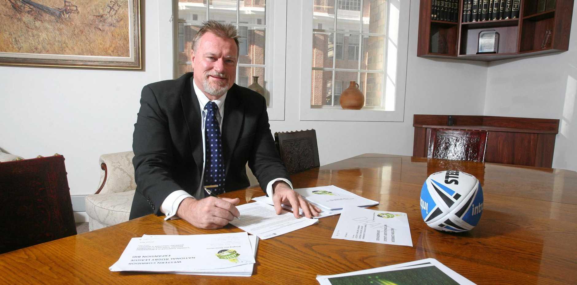 STATESMAN: Western Corridor NRL bid chairman Steve Johnson has given Ipswich's NRL bid and the Western Pride's A-League bid a boost.