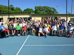 Tournament showcases steely wheels on court
