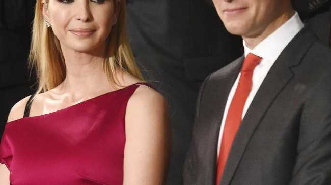 Ivanka Trump confused Congress with cocktail hour in Washington today. Picture: EPA/PETE MAROVICH Source:AAP