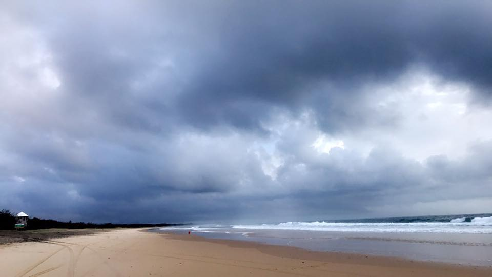 More clouds loom at Rainbow Beach just after 7am morning.