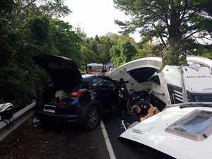 Car towing caravan involved in Coast head-on crash