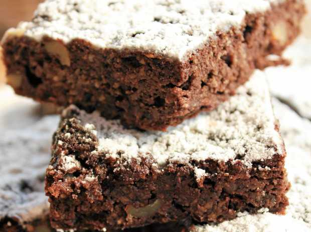 The most amazing no chocolate chia seed chocolate brownies.