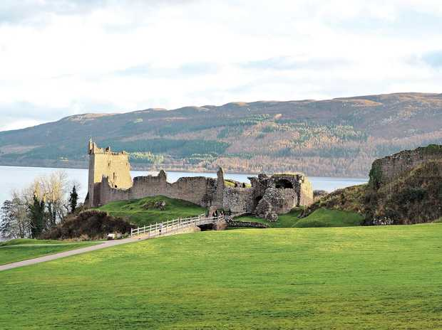 Urquhart Castle, on Loch Ness, is one of the most visited castles in Scotland and, top right, the drive along Scotland's Loch Ness has plenty of spots to stop and search for the elusive monster.