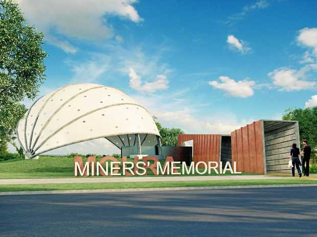 LONG TIME COMING: An artist's impression of how the Moura Miners' Memorial will look from Gillespie St.
