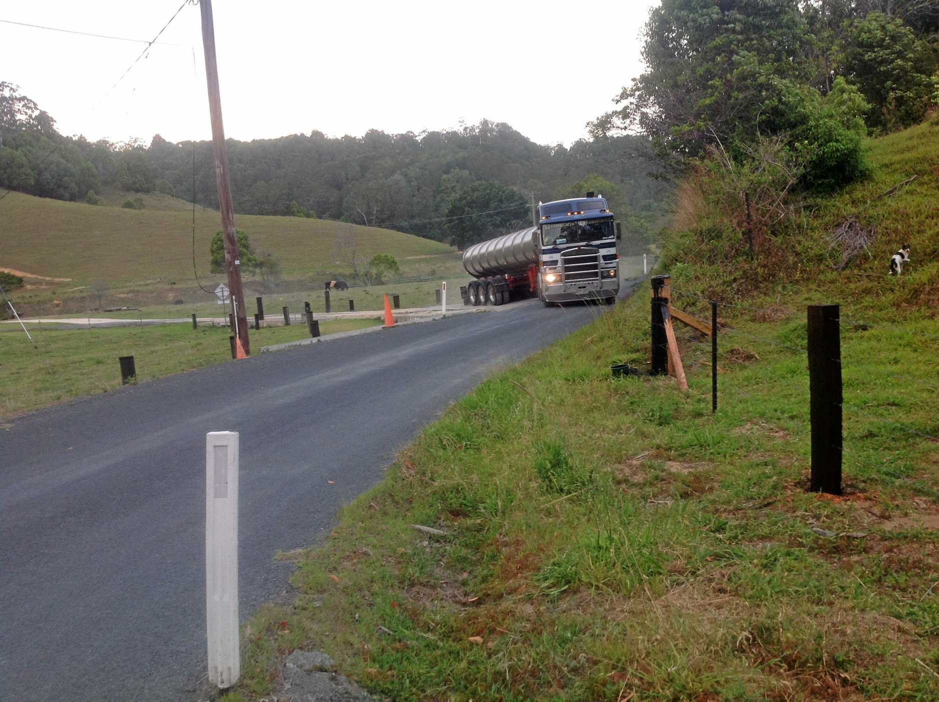 The 6m truck which is currently in use for the water extraction on Urliup Rd.
