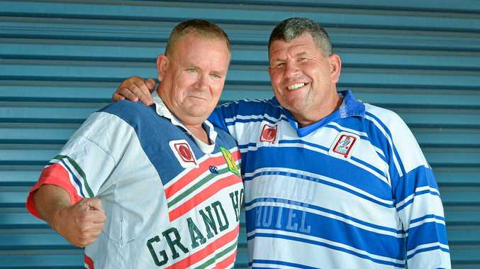 Gus Stedman and Mick Daly are proud as punch to be associated with the Gladstone Brothers Rugby League club.