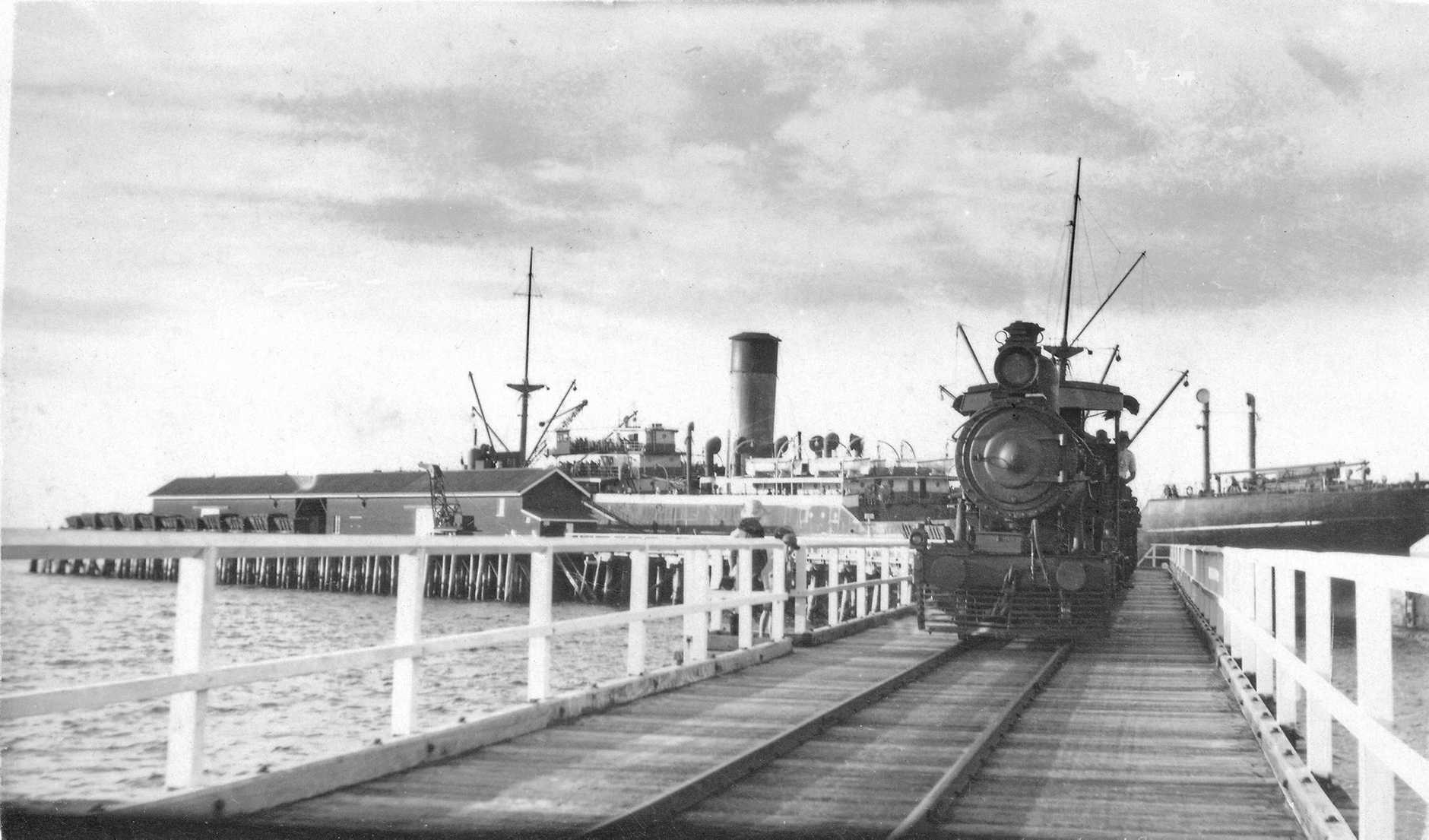 Train on Urangan Pier.