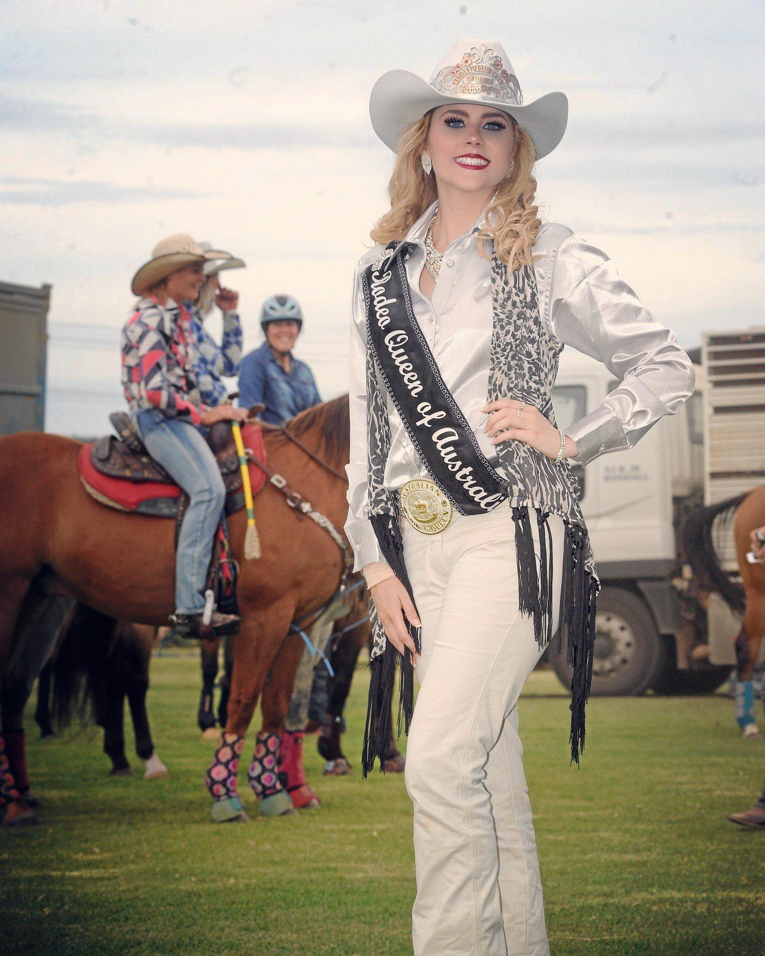 Rodeo Queen of Australia Bessie Smits will meet all her appearances as queen.