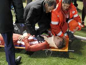 Ex-EPL star hospitalised after frightening head clash