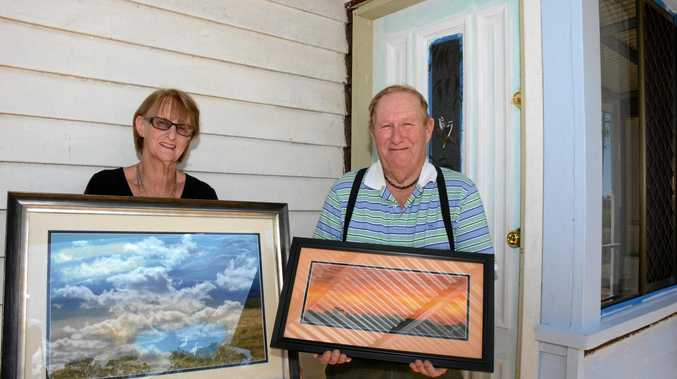 MASTER STROKE: Kaye and Gene Kerner are building an art gallery in their Murgon home.