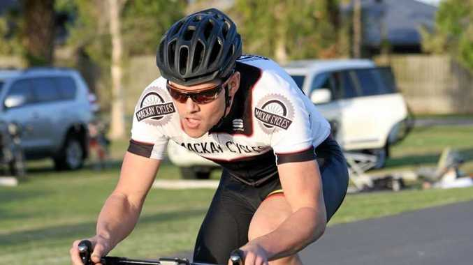 Hot favourite in Mackay Cycling Club's men's time trial - Kyle Marwood.