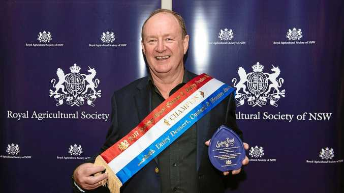 BEST INGREDIENTS: Peter Nicholson with his champion award from the Sydney Royal Cheese and Dairy show.