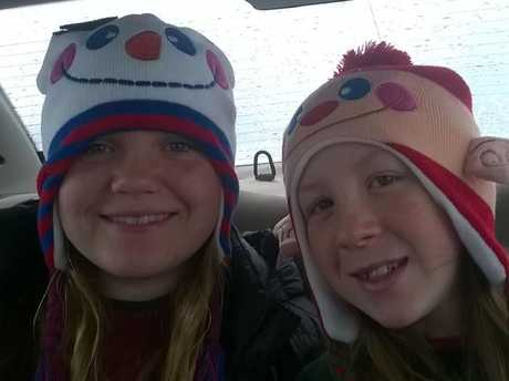 Libby German, 14 (left) and Abby Williams, 13 were buried in a private ceremony last Sunday. Their killer remains at largeSource:Facebook