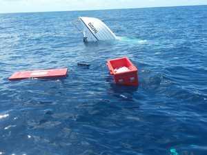 Dramatic sea rescue: Boat sinks 35km off Coast