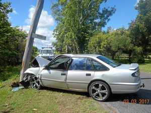 Car crash knocks out power