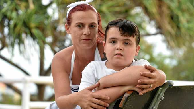 Hervey Bay mother Kelly-Ann Brooks and her 10-year-old son Tate Smith are disappointed with the government recommendations.