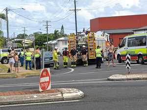 Five people involved in two-car crash at Targo St