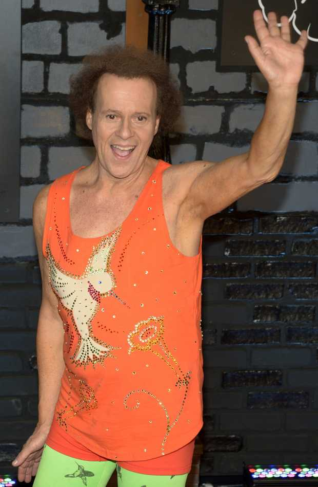 US fitness guru, Richard Simmons arrives on the red carpet for the MTV Video Music Awards at the Barclays Center in Brooklyn, New York, USA, 25 August 2013. EPA/JASON SZENES