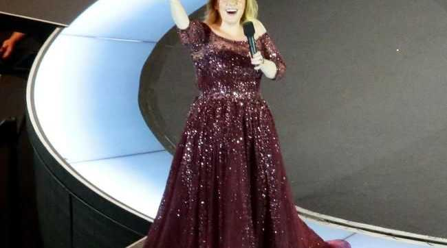 Adele gave Brisbane a hearty hello in the first of two shows. Picture: Steve Pohlner