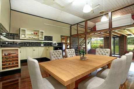 The interior has been modernised, but the home retains its century-old charm.